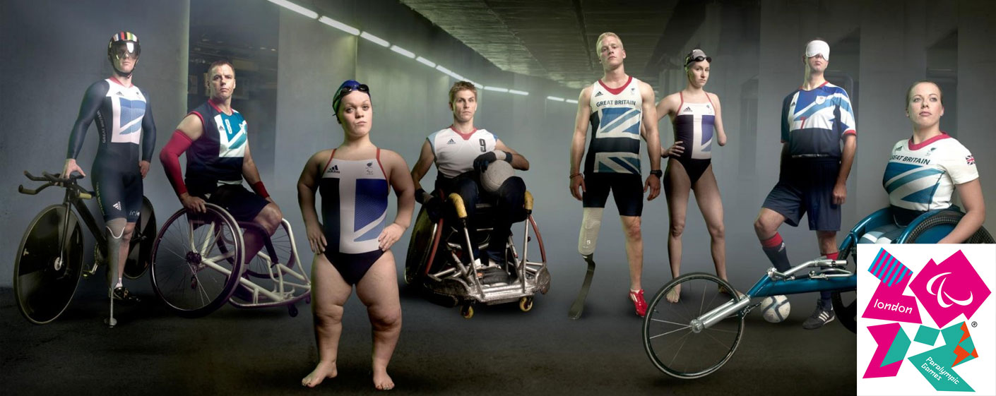 Ellie Simmonds O.B.E. featured in the Paralympics banner