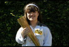 Lauren Sullivan with the Olympic Torch